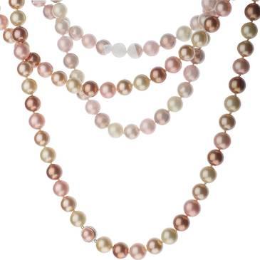 Ожерелье Misaki с жемчугом из стали qcrnterralong