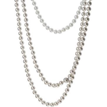 Ожерелье Misaki с жемчугом из стали qcrnpapillonlong2