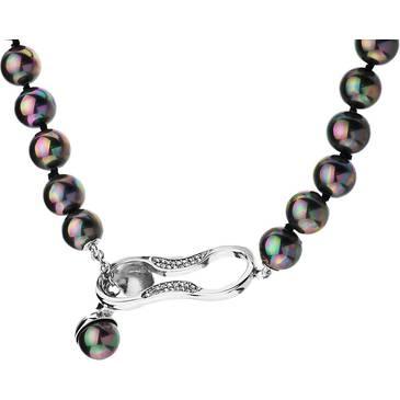 Ожерелье Misaki с жемчугом из стали qcrnemmanuelle