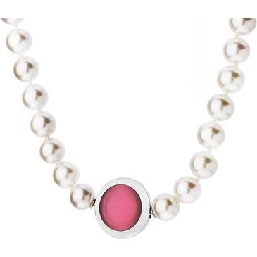 Ожерелье Misaki с жемчугом из стали qcrnfatalewh