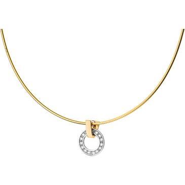 Ожерелье Guy Laroche с бриллиантом из желтого золота ty505xb3