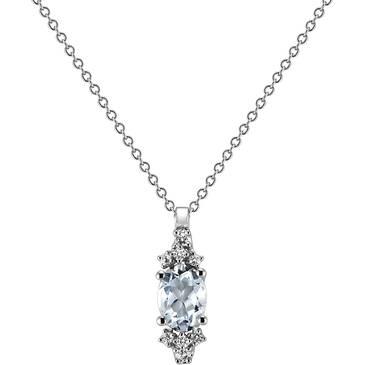 Ожерелье Comete из белого золота GLQ 223