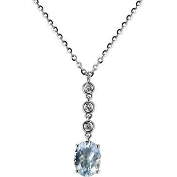 Ожерелье Comete из белого золота GLQ 225