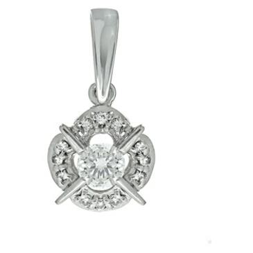 подвеска c бриллиантами из белого золота 33031260