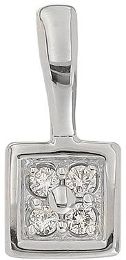 подвеска c бриллиантами из белого золота 33038066