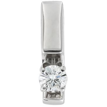 подвеска c бриллиантом 0,212 карата из белого золота 33032849-1