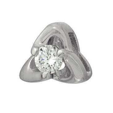 подвеска c бриллиантом из белого золота 33034259