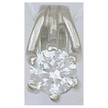 подвеска c бриллиантом из белого золота 10030636/11
