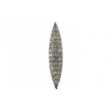 Подвеска с бриллиантами из белого золота 107057