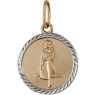 подвеска Дева из красного золота 1401136213