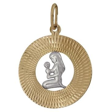 подвеска Дева из красного золота 1407136023