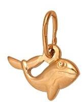 подвеска Кит из красного золота 1400030991