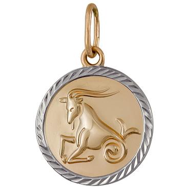 подвеска Козерог из красного золота 1401136209