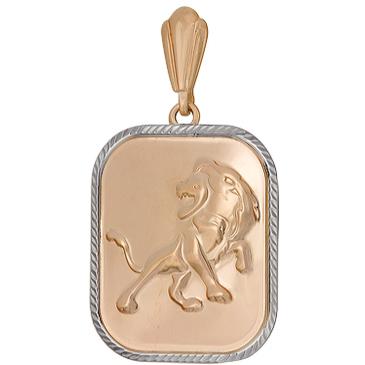 подвеска лев из красного золота 1401136223