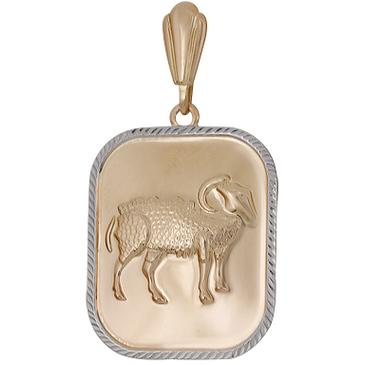 подвеска овен из красного золота 1401136245