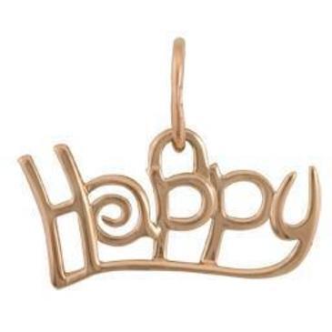подвеска СЧАСТЬЕ (Happy) из красного золота 1400031443