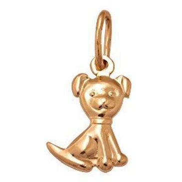 подвеска щенок из красного золота 1400030990