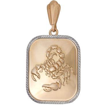 подвеска скорпион из красного золота 1401136218