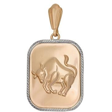 подвеска телец из красного золота 1401136221
