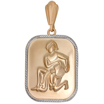 подвеска водолей из красного золота 1401136222