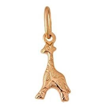 подвеска Жираф из красного золота 1400030992