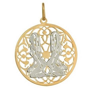 подвеска Знаки зодиака Близнецы из красного золота 1406236142