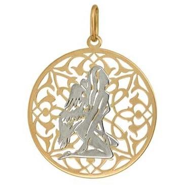 подвеска Знаки зодиака Дева из красного золота 1406236143