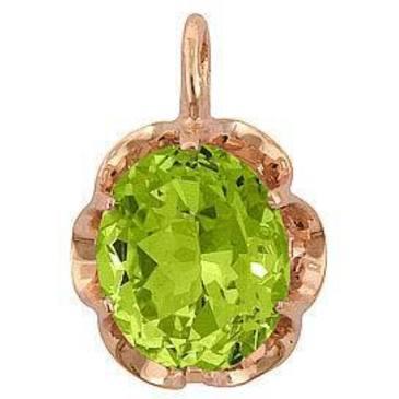 подвеска c бледно-зеленым цитрином из красного золота 3190136 от EVORA