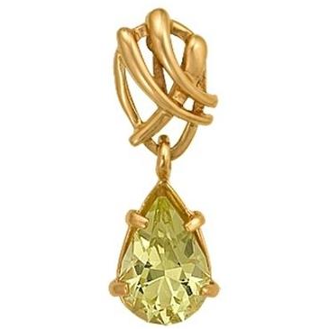 подвеска c цитрином из красного золота 1090031228 от EVORA