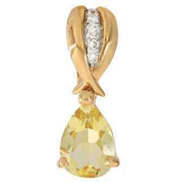 подвеска c цитрином из красного золота 31938322 от EVORA