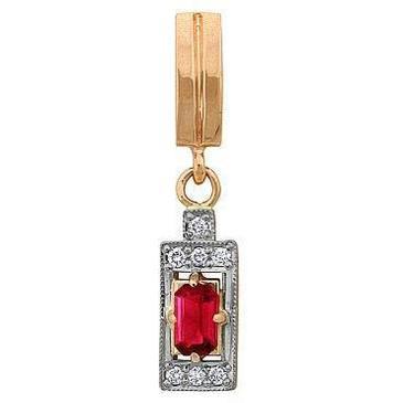 подвеска c корундом из красного золота 32391619