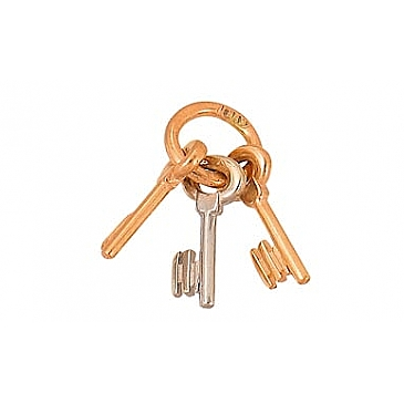 Подвеска Связка ключей бк из красного золота 2338