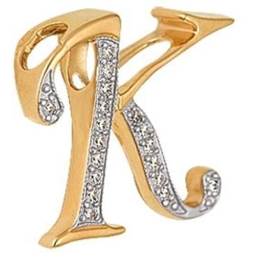 подвеска c фианитами из красного золота 1200231172Л