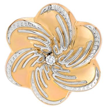 подвеска Цветок c фианитами из красного золота 1200235061