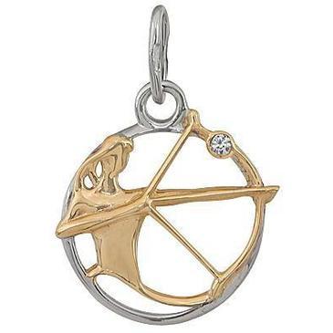 подвеска Стрелец c фианитом из красного золота 1200236074-1