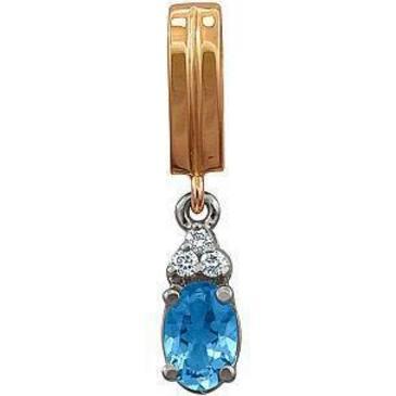 подвеска c топазом и бриллиантами из красного золота 32831074