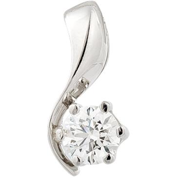подвеска c бриллиантом из платины 35033177