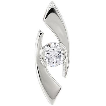 подвеска c бриллиантом из платины 35033603