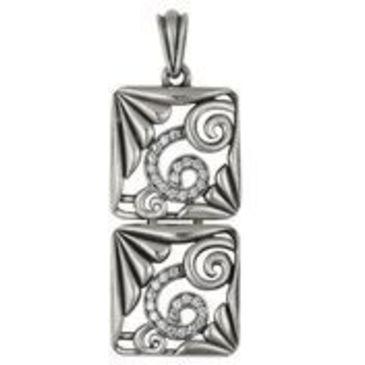 подвеска c фианитами из серебра 3201031907