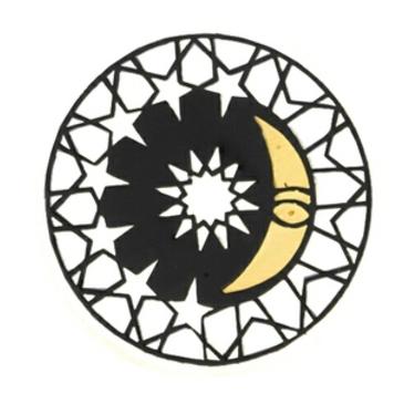 подвеска моя луна и звезды c фианитом из серебра 3642031291