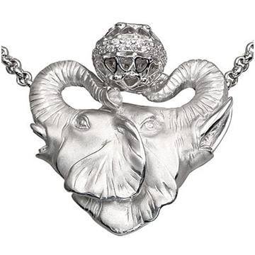 подвеска Слоны из серебра П-25034