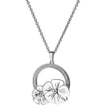 Подвеска два цветка на цепочке Cacharel из серебра csc249z50 от EVORA