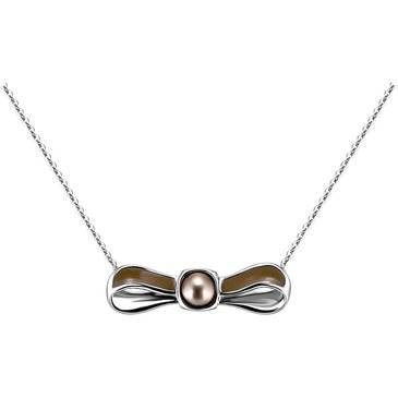 Ожерелье Misaki из серебра QCRPRIBBONPEA