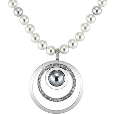 Ожерелье Misaki из стали QCRNORBITLONGGREY