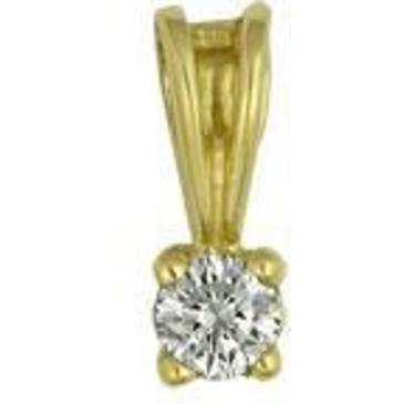 подвеска c бриллиантом из желтого золота 1003030144