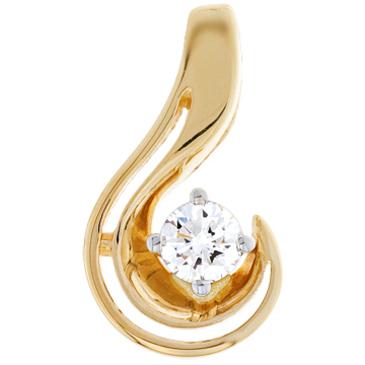подвеска c бриллиантом из желтого золота 34033160-1