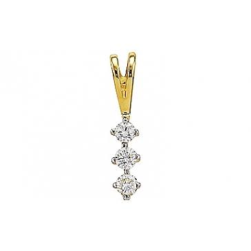 Подвеска с бриллиантом из желтого золота 77079