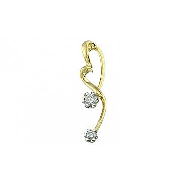 Подвеска с бриллиантом из желтого золота 96676