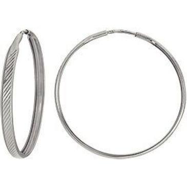 серьги диаметр 40 мм из белого золота 1407117088