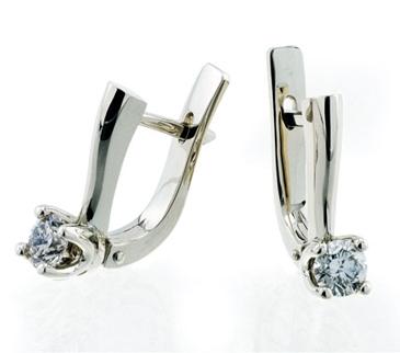 Бриллиант королевы из белого золота Ср2-5Б-1б